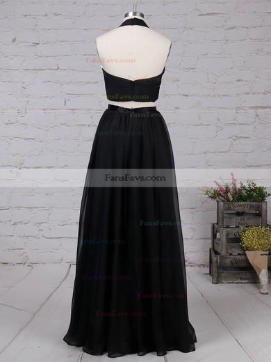 A-line Halter Chiffon Floor-length Sashes / Ribbons Prom Dresses #Favs020105869