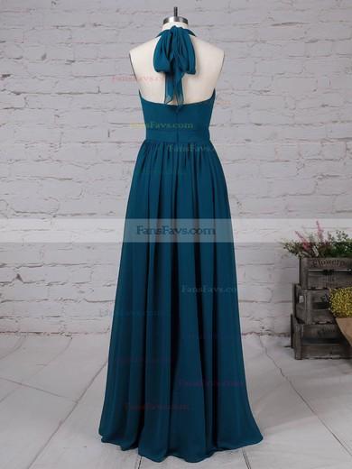 A-line Halter Chiffon Floor-length Sashes / Ribbons Prom Dresses #Favs020105870