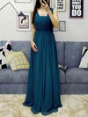 A-line Halter Chiffon Floor-length Sashes / Ribbons Prom Dresses #Favs020105870