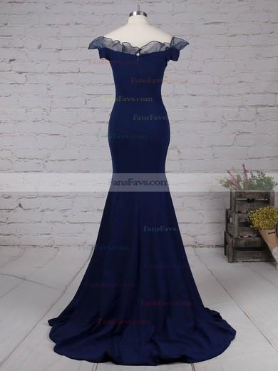 Trumpet/Mermaid Off-the-shoulder Elastic Woven Satin Floor-length Prom Dresses #Favs020105922