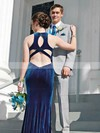 Trumpet/Mermaid Scoop Neck Velvet Floor-length Prom Dresses #Favs020106120