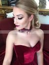 Ball Gown Sweetheart Velvet Court Train Prom Dresses #Favs020106125