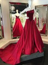 Ball Gown Strapless Satin Velvet Court Train Prom Dresses #Favs020106132
