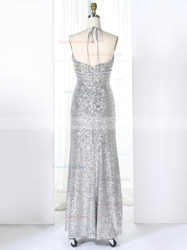 Empire Halter Sequined Floor-length Ruffles Prom Dresses #Favs020106170