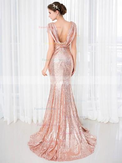Trumpet/Mermaid Scoop Neck Sequined Sweep Train Prom Dresses #Favs020106177