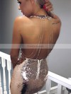 Sheath/Column V-neck Sequined Short/Mini Beading Prom Dresses #Favs020106185