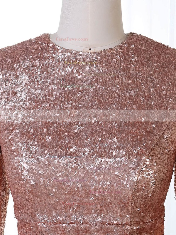 Trumpet/Mermaid Scoop Neck Sequined Sweep Train Prom Dresses #Favs020106201