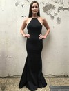 Trumpet/Mermaid Scoop Neck Stretch Crepe Floor-length Prom Dresses #Favs020106262