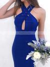 Trumpet/Mermaid V-neck Jersey Sweep Train Prom Dresses #Favs020106264