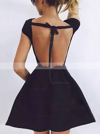 A-line Scoop Neck Satin Short/Mini Prom Dresses #Favs020106282