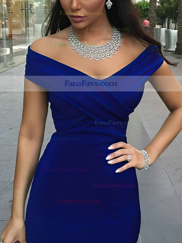 Trumpet/Mermaid Off-the-shoulder Satin Sweep Train Ruffles Prom Dresses #Favs020102331