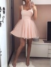 A-line Sweetheart Tulle Short/Mini Prom Dresses #Favs020106308