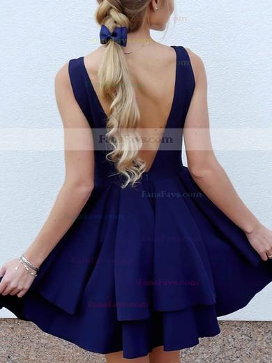 Princess V-neck Silk-like Satin Short/Mini Tiered Prom Dresses #Favs020106325