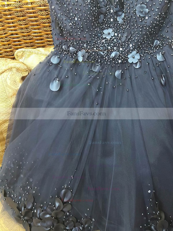Princess Sweetheart Tulle Short/Mini Beading Prom Dresses #Favs020106362