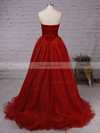 Ball Gown V-neck Organza Velvet Floor-length Prom Dresses #Favs020102419