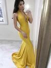 Trumpet/Mermaid Halter Jersey Sweep Train Prom Dresses #Favs020106449