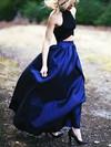 A-line Halter Satin Floor-length Prom Dresses #Favs020102737