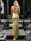 Trumpet/Mermaid V-neck Sequined Floor-length Appliques Lace Prom Dresses #Favs020106539