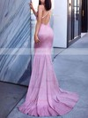 Trumpet/Mermaid Cowl Neck Shimmer Crepe Sweep Train Prom Dresses #Favs020106557