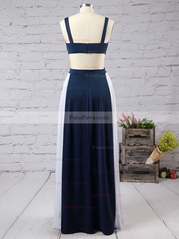 A-line Square Neckline Floor-length Chiffon Prom Dresses with Ruffle #Favs020103026