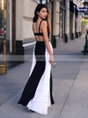 A-line Square Neckline Jersey Chiffon Floor-length Ruffles Prom Dresses #Favs020103026