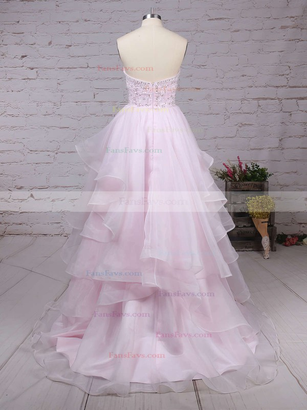 Ball Gown Sweetheart Organza Floor-length Beading Prom Dresses #Favs020103055