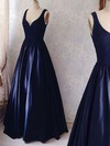 Ball Gown V-neck Satin Floor-length Lace Prom Dresses #Favs020104364
