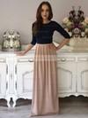 A-line Scoop Neck Silk-like Satin Floor-length Pockets Prom Dresses #Favs020103549
