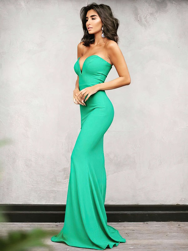 2d3f61c8598 Trumpet Mermaid V-neck Floor-length Jersey Prom Dresses  Favs020104889