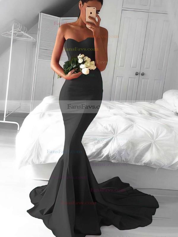 Trumpet/Mermaid Sweetheart Jersey Sweep Train Prom Dresses #Favs020103568