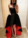 A-line Sweetheart Asymmetrical Satin Prom Dresses #Favs020104939