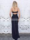 Sheath/Column Sweetheart Floor-length Chiffon Prom Dresses #Favs020105355