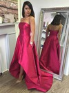 Princess Strapless Asymmetrical Satin Prom Dresses #Favs020105386