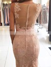Trumpet/Mermaid V-neck Lace Tulle Sweep Train Beading Prom Dresses #Favs020105460