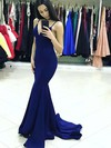 Trumpet/Mermaid V-neck Jersey Sweep Train Prom Dresses #Favs020105485