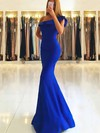 Trumpet/Mermaid One Shoulder Floor-length Satin Prom Dresses #Favs020105742