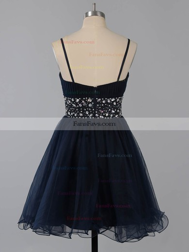 A-line Square Neckline Short/Mini Chiffon Prom Dresses with Beading #Favs02014651