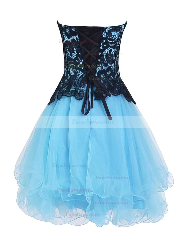 Princess Sweetheart Organza Short/Mini Tiered Nice Homecoming Dresses #Favs020102562