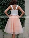 Classic A-line Sweetheart Tulle Tea-length Ruffles Prom Dresses #Favs020102578