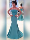 Trumpet/Mermaid Strapless Sweep Train Satin Prom Dresses with Appliques Lace Sashes #Favs020102860