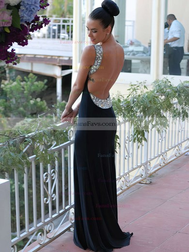 Trumpet/Mermaid Scoop Neck Sweep Train Jersey Prom Dresses #Favs02016327