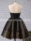 Princess Sweetheart Tulle Short/Mini Appliques Lace Black For Less Prom Dresses #Favs020103252