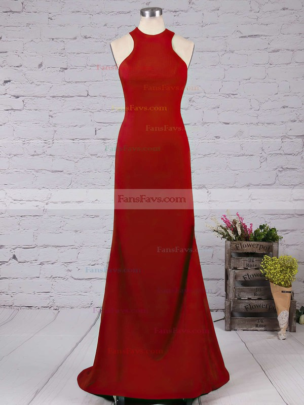 Trumpet/Mermaid Scoop Neck Jersey Floor-length Prom Dresses #Favs02016822