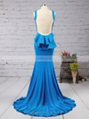Trumpet/Mermaid Scoop Neck Stretch Crepe Sweep Train Cascading Ruffles Prom Dresses #Favs02016910