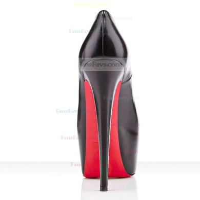 Women's Black Real Leather Pumps #Favs03030286