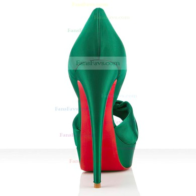 Women's Green Satin Pumps #Favs03030288