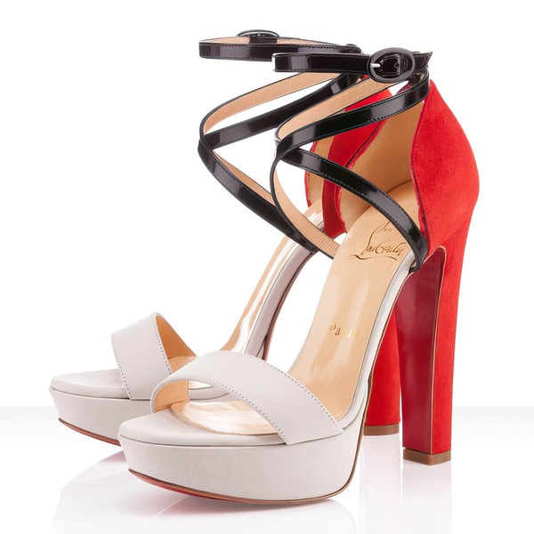 Women's White Suede Pumps with Buckle