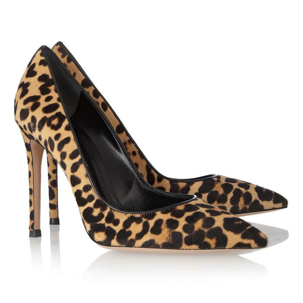 Women's Leopard Nubuck Closed Toe with Fur #Favs03030303
