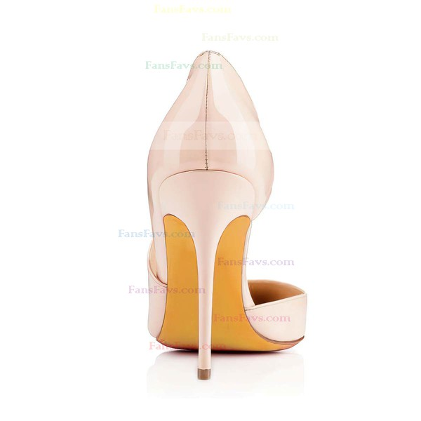 Women's Pale Pink Patent Leather Pumps