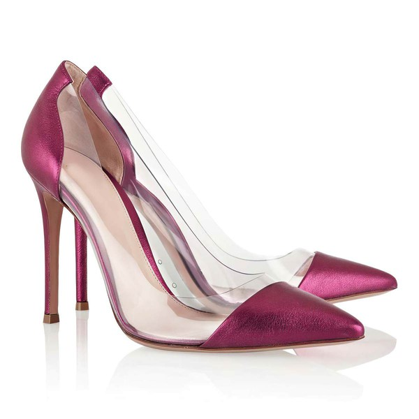 Women's Red Real Leather Closed Toe